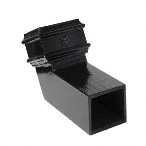 Cast Iron 75x75 Sq Bend 112.5 Black Pipe Bend