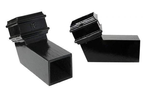Cast Iron 75x75mm Square Pipe 112.5 deg Bend PX Black