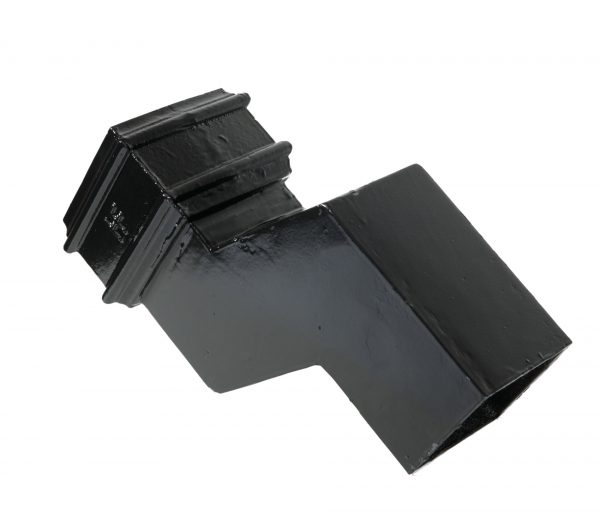 Cast Iron 75x75mm Square 75mm Proj Offset Black