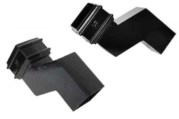 Cast Iron 75x75mm Square Pipe 75mm Proj Offset PX Black
