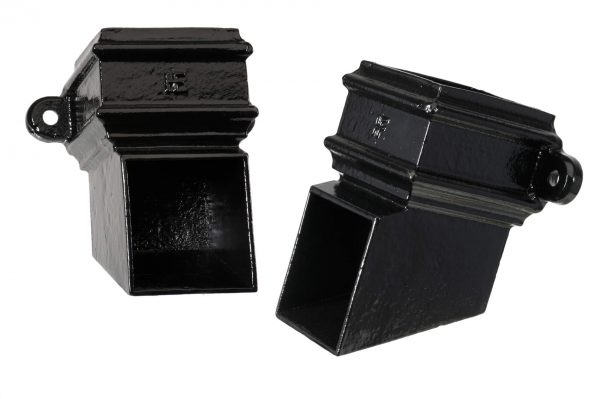Cast Iron 75x75mm Square Pipe Eared Shoe PX Black