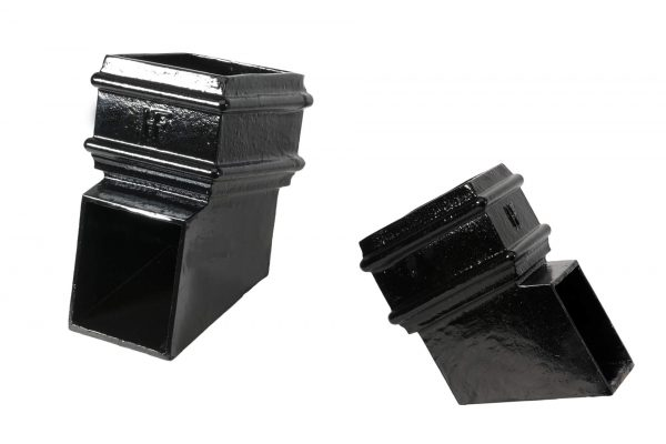 75x75mm Square Plain Shoe Black
