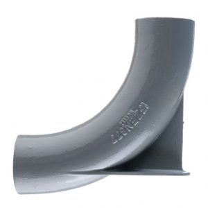 Halifax Cast Iron Drain System BSEN877:1999-Long Radius Bend with Heel Rest [HD]