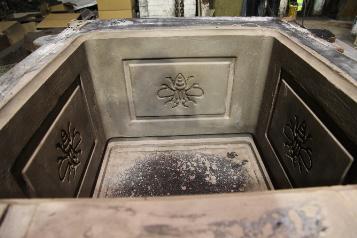 Ornate Cast Iron Garden Planters