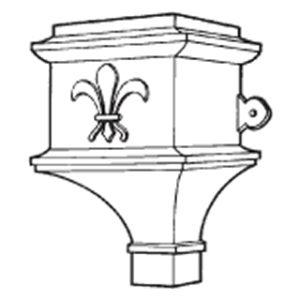 Cast Iron Ornamental Hopper Head H500