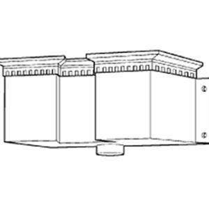 Cast Iron Ornamental Rainwater Head H510 Dimensions