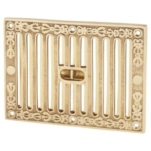 Brass Ornate Victorian Air Vent Cover