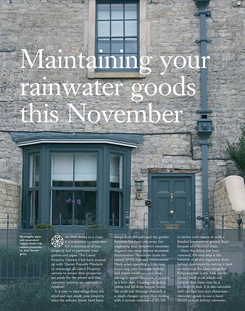 Maintaining Rain Water