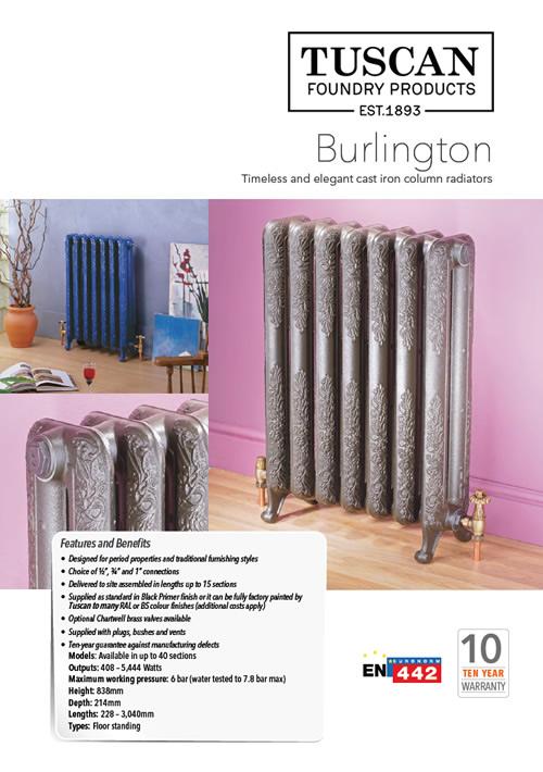 Burlington Cast Iron Radiator Brochure 2020